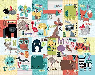 Animal ABC-Jillian Phillips-Art Print