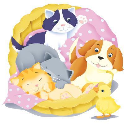 Animal Babies - Humpty Dumpty-Paul Sharp-Giclee Print