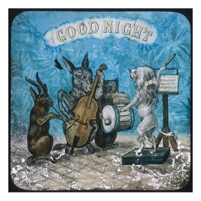 Animal Band Good Night--Giclee Print