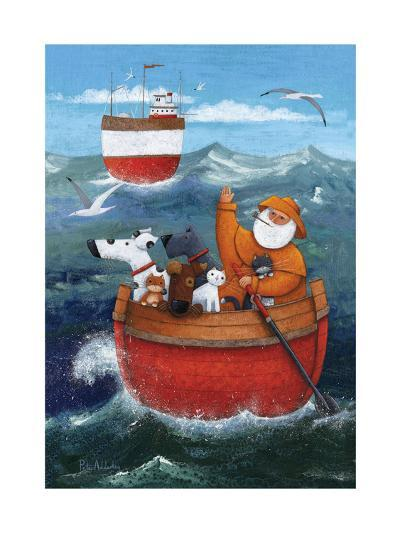 Animal Boat Adventure-Peter Adderley-Art Print