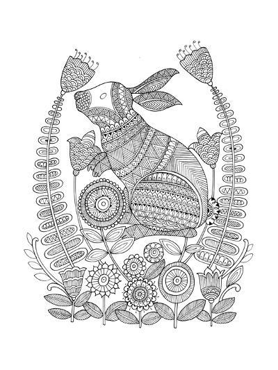 Animal Bunny 3-Neeti Goswami-Art Print