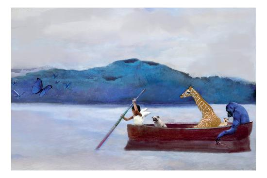 Animal Canoe-Nancy Tillman-Premium Giclee Print