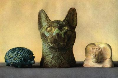 Animal Carvings from the New Kingdom and Late Period, Egypt, 1936--Giclee Print