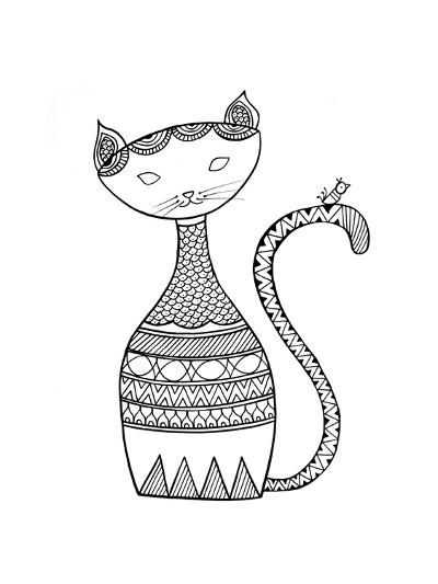 Animal Cat 3-Neeti Goswami-Art Print