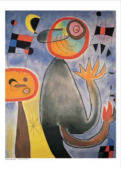 Animal Composition-Joan Mir?-Art Print