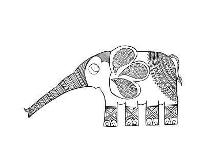 Animal Elephant Baby-Neeti Goswami-Art Print