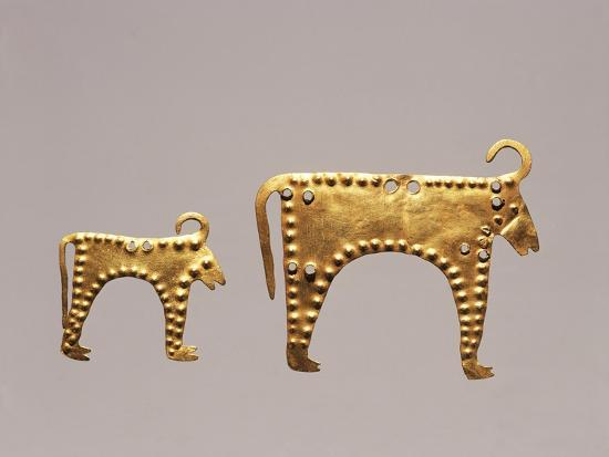 Animal Figures from Excavations at Varna, Tomb 36--Giclee Print