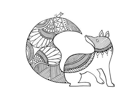 Animal Fox 2-Neeti Goswami-Art Print