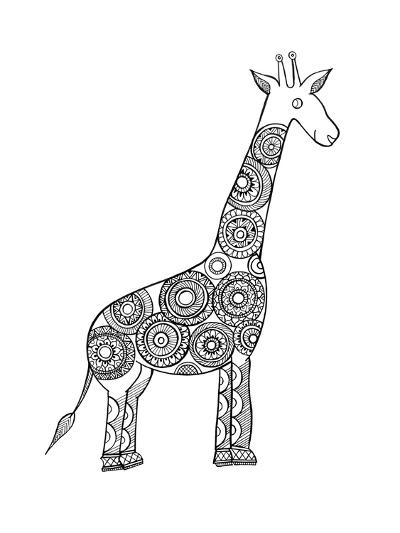 Animal Giraffe-Neeti Goswami-Art Print