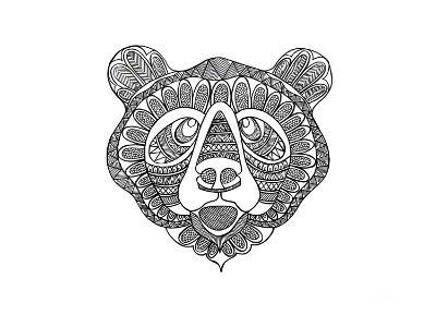Animal Head Bear-Neeti Goswami-Art Print