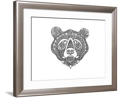 Animal Head Bear-Neeti Goswami-Framed Art Print