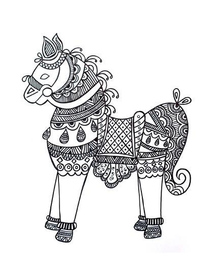 Animal Horse4-Neeti Goswami-Art Print