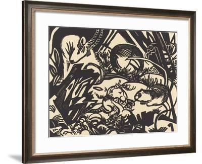 Animal Legend (Tierlegende), 1912-Franz Marc-Framed Giclee Print