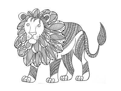 Animal Lion-Neeti Goswami-Art Print