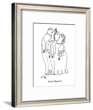 Animal Magnetism - New Yorker Cartoon-William Steig-Framed Premium Giclee Print