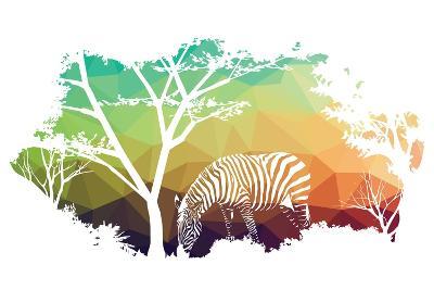 Animal of Wildlife (Zebra)- ananaline-Art Print