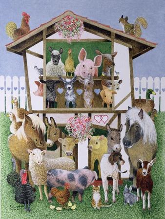 Animal Playhouse-Pat Scott-Giclee Print