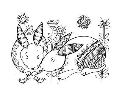 Animal Rabbits-Neeti Goswami-Art Print