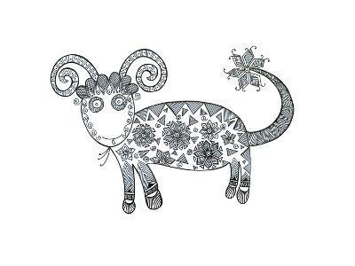 Animal Sheep 1-Neeti Goswami-Art Print