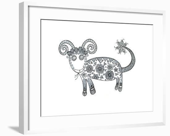 Animal Sheep 1-Neeti Goswami-Framed Art Print