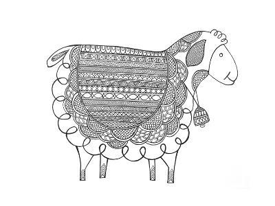 Animal Sheep 2-Neeti Goswami-Art Print
