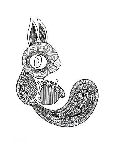 Animal Squirrel-Neeti Goswami-Art Print