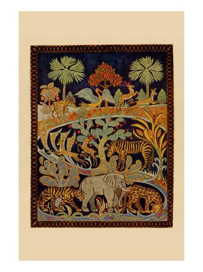 Animal Tapestry--Art Print