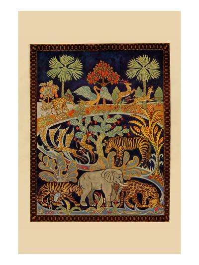 Animal Tapestry-Needlecraft Magazine-Art Print