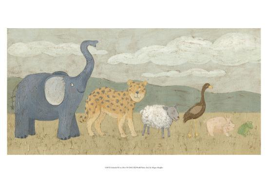 Animals All in a Row I-Megan Meagher-Art Print