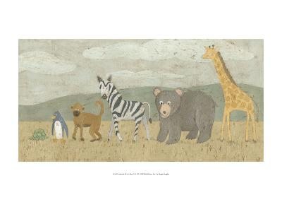 Animals All in a Row II-Megan Meagher-Art Print