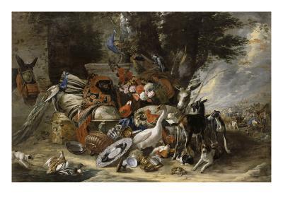 Animals and Utensils Said Jacob Depart for Mesopotamia-Pieter Boel-Giclee Print