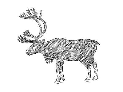 Animals Caribou-Neeti Goswami-Art Print