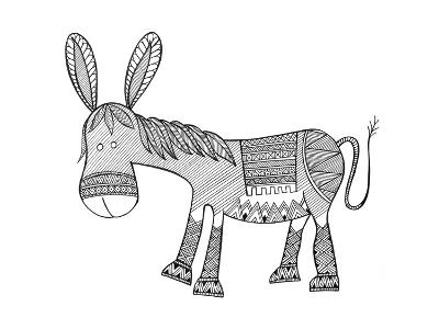 Animals Donkey-Neeti Goswami-Art Print