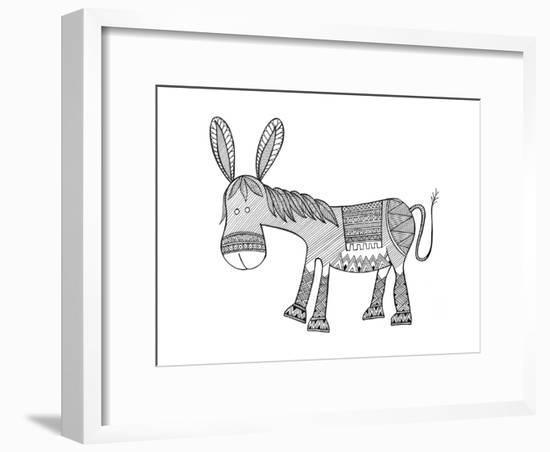 Animals Donkey-Neeti Goswami-Framed Art Print