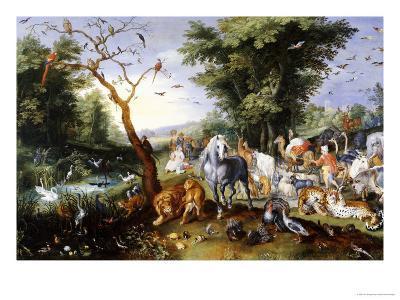 Animals Entering Noah's Ark-Jan Brueghel the Elder-Giclee Print