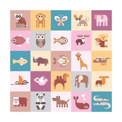Animals Illustration-Jazzia-Art Print