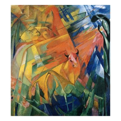 Animals in a Landscape-Franz Marc-Giclee Print