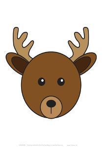 Deer - Animaru Cartoon Animal Print by Animaru