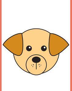 Dog - Animaru Cartoon Animal Print by Animaru