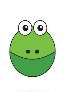 Frog - Animaru Cartoon Animal Print by Animaru