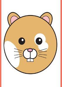 Hamster - Animaru Cartoon Animal Print by Animaru
