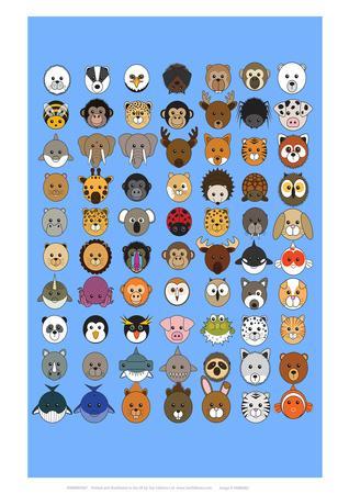 Mixed - Animaru Cartoon Animal Print