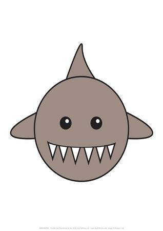 Shark - Animaru Cartoon Animal Print
