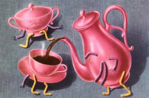 Animated Coffee Pot and Cup