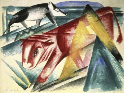 Animaux, c.1913-Franz Marc-Giclee Print
