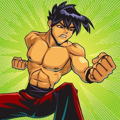 Anime Fighter-Harry Briggs-Giclee Print