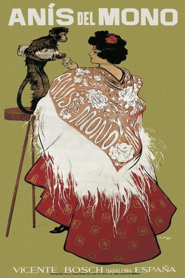 Anis Del Mono-Ramon Casas i Carbo-Art Print