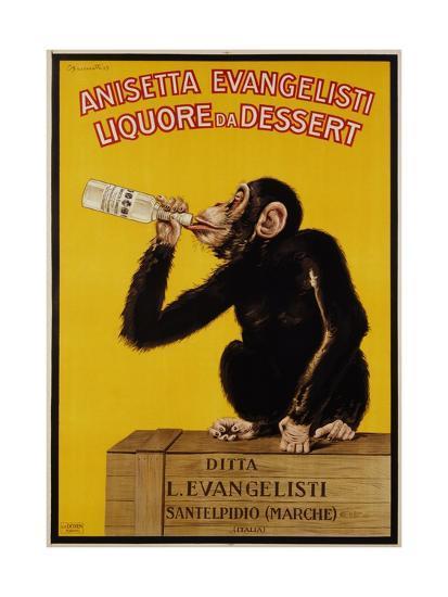 Anisetta Evangelisti Liquore Da Dessert Poster-Carlo Biscaretti Di Ruffia-Premium Giclee Print