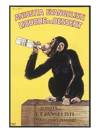 Anisetta Evangelisti, Liquore da Dessert-Carlo Biscaretti-Premium Giclee Print