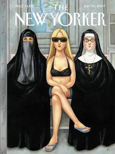 The New Yorker Cover - July 30, 2007 by Anita Kunz